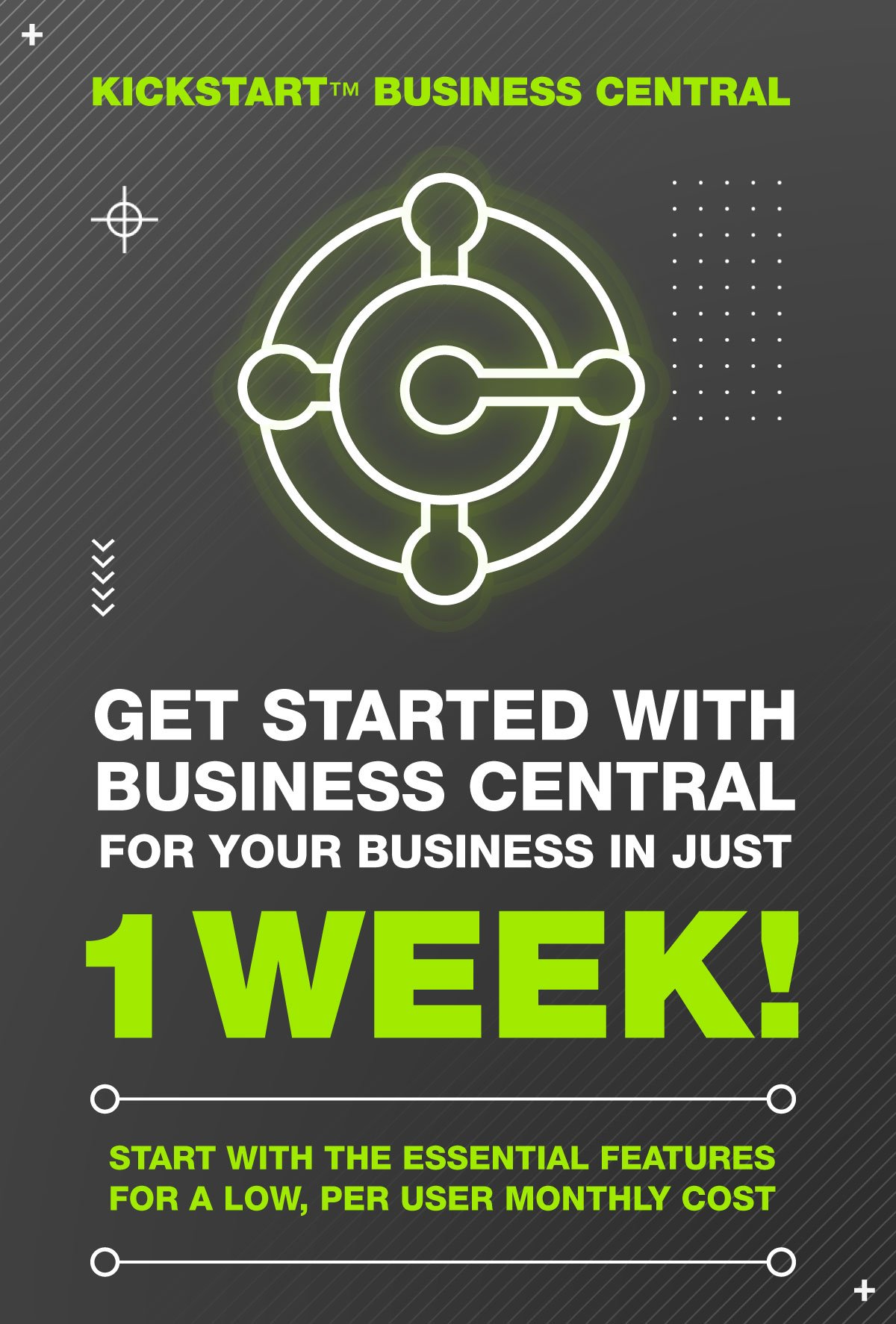 Start running Microsoft Business Central in just 1 Week