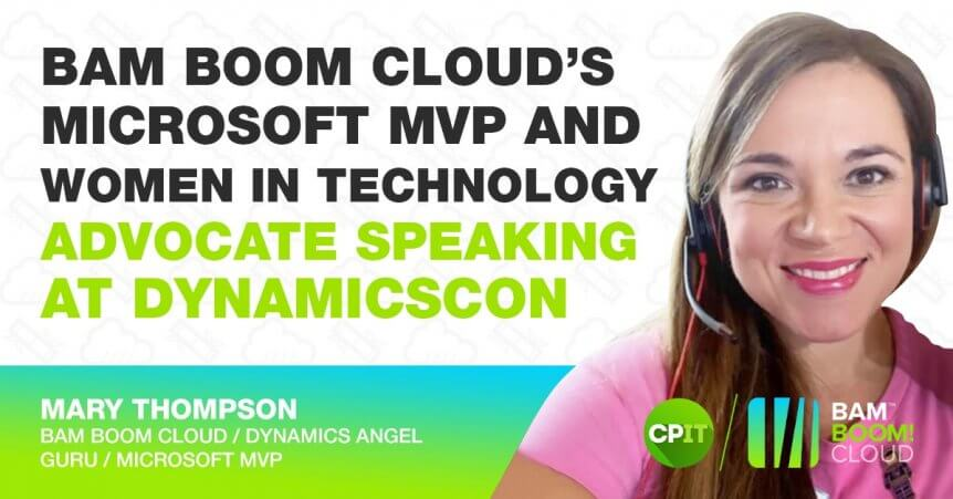 Bam Boom Cloud's Mary Thompson to talk at DynamicsCon