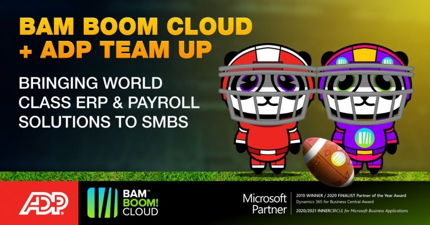 Bam Boom Cloud America partner with ADP to bring you the best Payroll software for SMBs