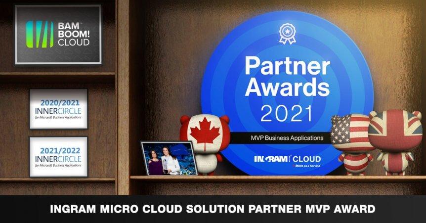 Bam Boom Cloud win the Ingram Partner Awards 2021