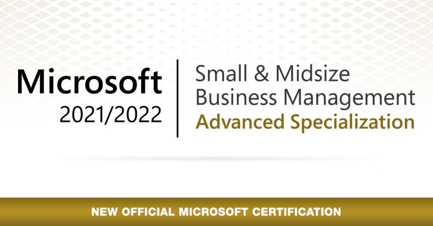 BAM BOOM CLOUD RECEIVE THE MICROSOFT SMALL & MIDSIZE BUSINESS MANAGEMENT ADVANCED SPECIALIZATION